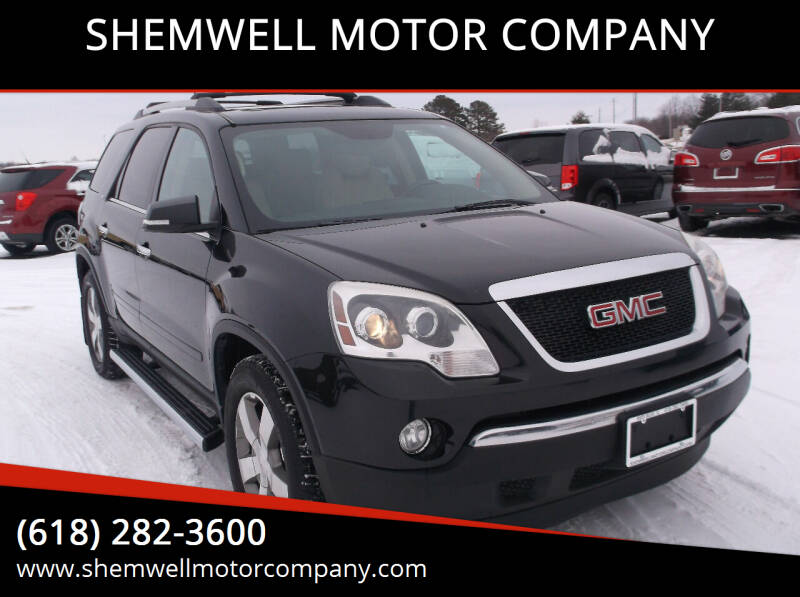 2012 GMC Acadia for sale at SHEMWELL MOTOR COMPANY in Red Bud IL
