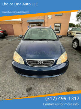 2006 Toyota Corolla for sale at Choice One Auto LLC in Beech Grove IN