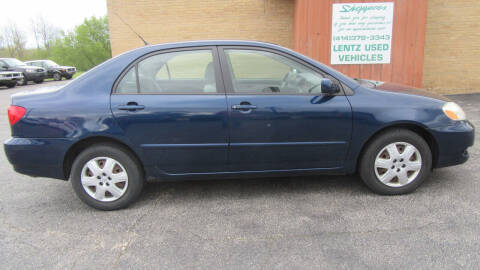 2005 Toyota Corolla for sale at LENTZ USED VEHICLES INC in Waldo WI