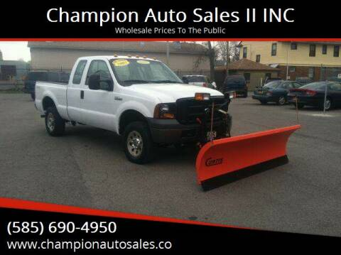 2005 Ford F-250 Super Duty for sale at Champion Auto Sales II INC in Rochester NY