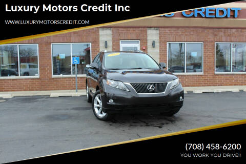 2010 Lexus RX 350 for sale at Luxury Motors Credit Inc in Bridgeview IL