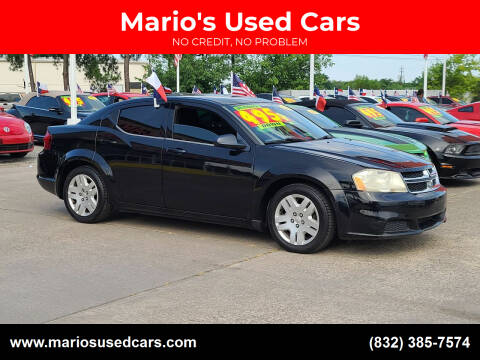 2013 Dodge Avenger for sale at Mario's Used Cars in Houston TX