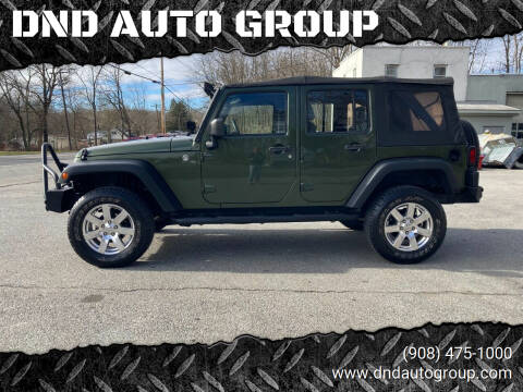 2008 Jeep Wrangler Unlimited for sale at DND AUTO GROUP in Belvidere NJ