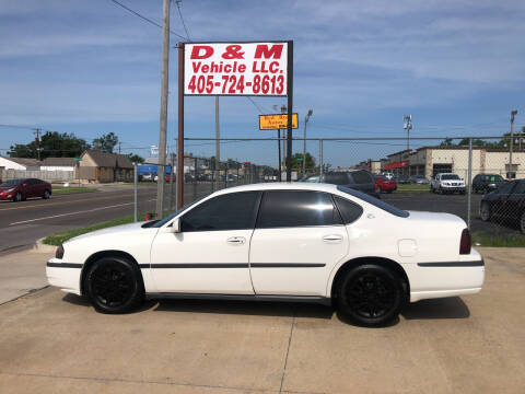 2001 Chevrolet Impala for sale at D & M Vehicle LLC in Oklahoma City OK