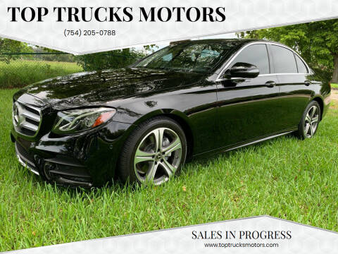 2018 Mercedes-Benz E-Class for sale at Top Trucks Motors in Pompano Beach FL