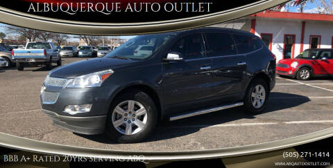 2012 Chevrolet Traverse for sale at ALBUQUERQUE AUTO OUTLET in Albuquerque NM