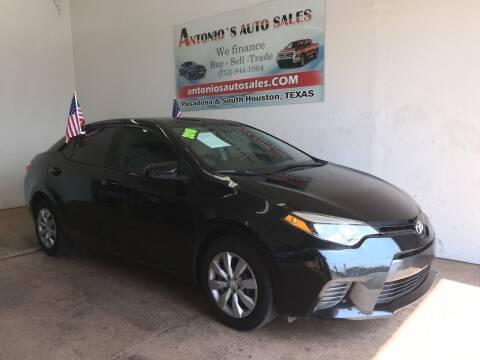 2016 Toyota Corolla for sale at Antonio's Auto Sales - Antonio`s  2206 in Pasadena TX