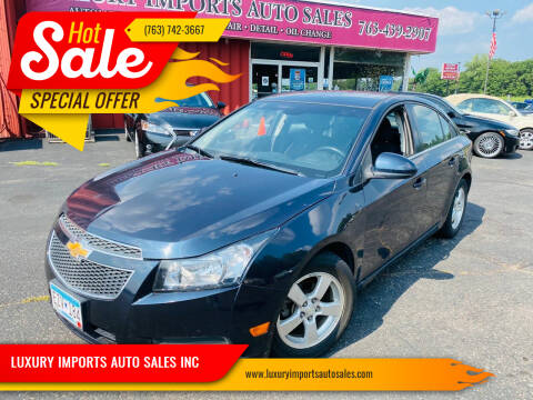 2014 Chevrolet Cruze for sale at LUXURY IMPORTS AUTO SALES INC in North Branch MN