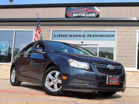 2014 Chevrolet Cruze for sale at CK MOTOR CARS in Elgin IL