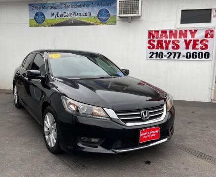 2014 Honda Accord for sale at Manny G Motors in San Antonio TX