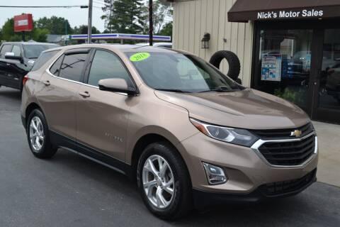 2018 Chevrolet Equinox for sale at Nick's Motor Sales LLC in Kalkaska MI