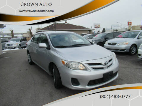 2011 Toyota Corolla for sale at Crown Auto in South Salt Lake City UT