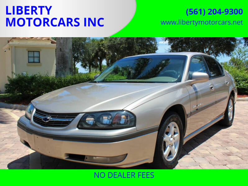 2003 Chevrolet Impala for sale at LIBERTY MOTORCARS INC in Royal Palm Beach FL