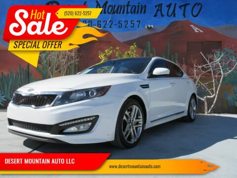 2013 Kia Optima for sale at DESERT MOUNTAIN AUTO LLC in Tucson AZ