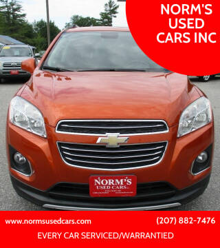 2015 Chevrolet Trax for sale at NORM'S USED CARS INC in Wiscasset ME