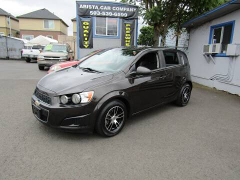 2014 Chevrolet Sonic for sale at ARISTA CAR COMPANY LLC in Portland OR