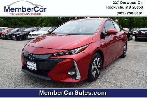 2018 Toyota Prius Prime for sale at MemberCar in Rockville MD