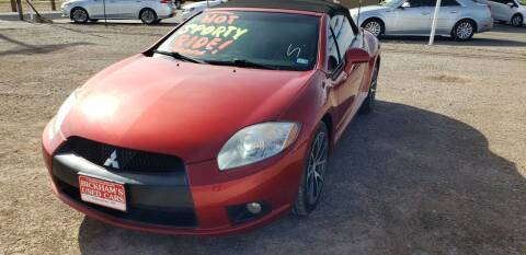 2011 Mitsubishi Eclipse Spyder for sale at Bickham Used Cars in Alamogordo NM