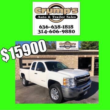 2013 Chevrolet Silverado 2500HD for sale at CRUMP'S AUTO & TRAILER SALES in Crystal City MO