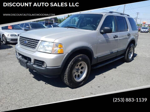 2003 Ford Explorer for sale at DISCOUNT AUTO SALES LLC in Lakewood WA