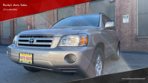 2004 Toyota Highlander for sale at Rocky's Auto Sales in Worcester MA