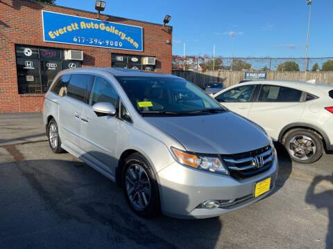 2015 Honda Odyssey for sale at Everett Auto Gallery in Everett MA