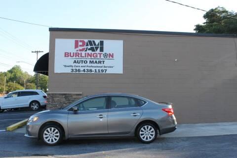 2016 Nissan Sentra for sale at Burlington Auto Mart in Burlington NC