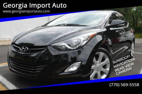 2013 Hyundai Elantra for sale at Georgia Import Auto in Alpharetta GA