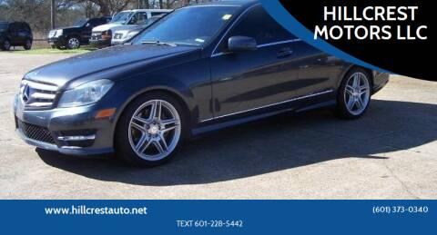 2013 Mercedes-Benz C-Class for sale at HILLCREST MOTORS LLC in Byram MS