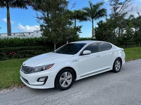 2016 Kia Optima Hybrid for sale at D & P OF MIAMI CORP in Miami FL