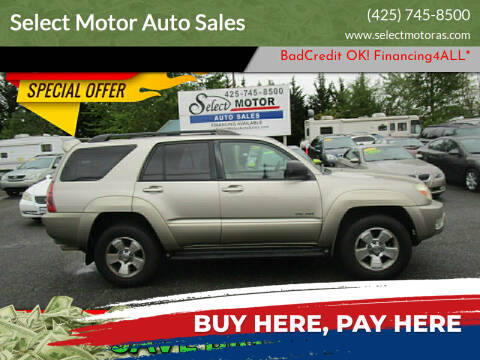 2005 Toyota 4Runner for sale at Select Motor Auto Sales in Lynnwood WA