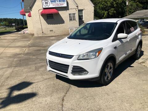 2013 Ford Escape for sale at Moore's Motors in Durham NC