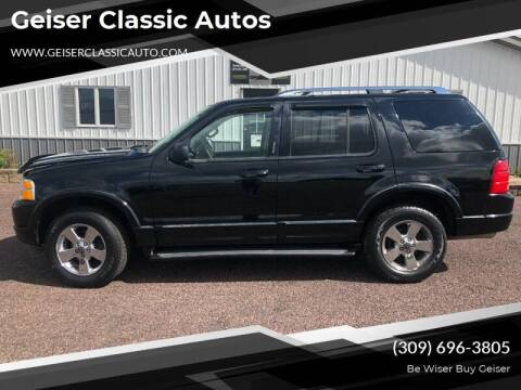 2003 Ford Explorer for sale at Geiser Classic Autos in Roanoke IL