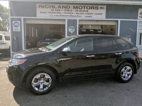 2013 Ford Edge for sale at Richland Motors in Cleveland OH