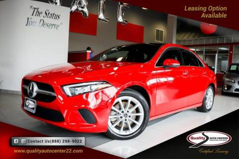2019 Mercedes-Benz A-Class for sale at Quality Auto Center of Springfield in Springfield NJ