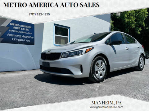 2018 Kia Forte for sale at METRO AMERICA AUTO SALES of Manheim in Manheim PA