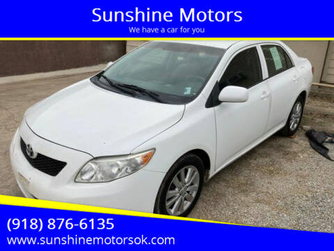 2009 Toyota Corolla for sale at Sunshine Motors in Bartlesville OK
