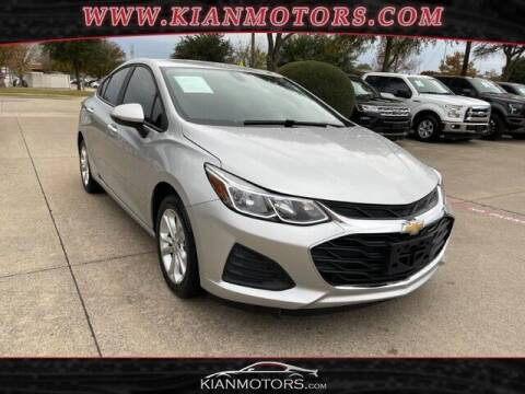 2019 Chevrolet Cruze for sale at KIAN MOTORS INC in Plano TX