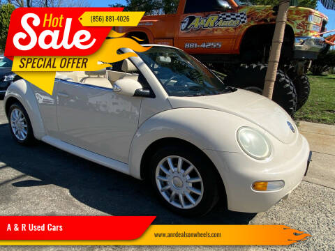 2004 Volkswagen New Beetle Convertible for sale at A & R Used Cars in Clayton NJ