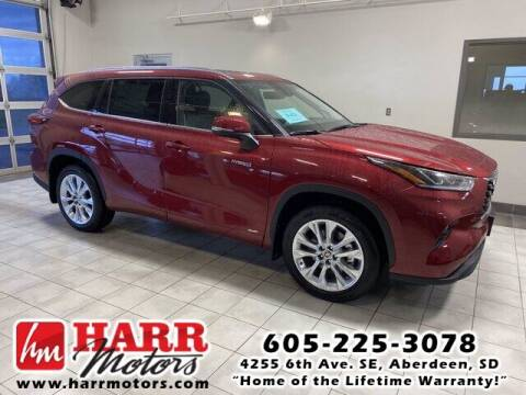 2021 Toyota Highlander Hybrid for sale at Harr's Redfield Ford in Redfield SD