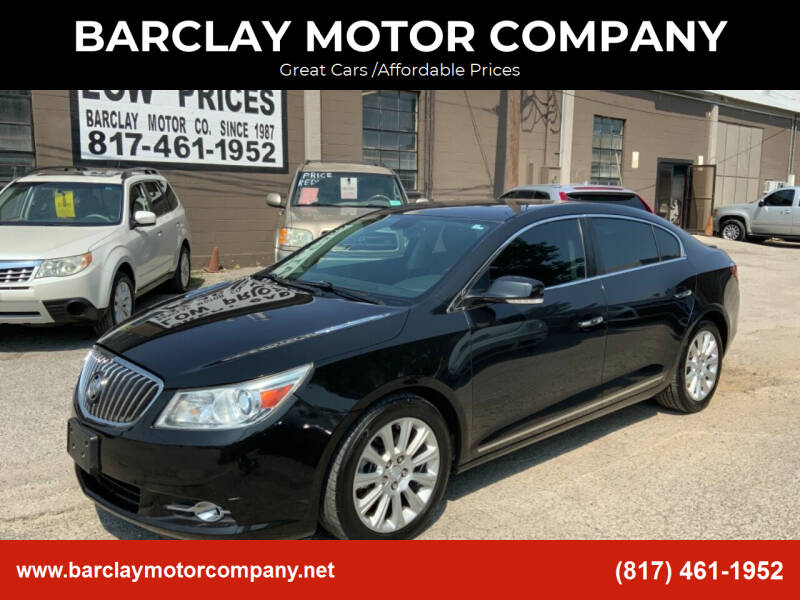 2013 Buick LaCrosse for sale at BARCLAY MOTOR COMPANY in Arlington TX
