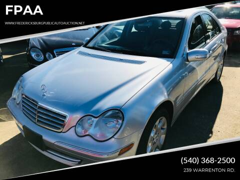 2006 Mercedes-Benz C-Class for sale at FPAA in Fredericksburg VA