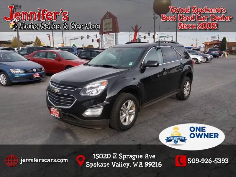 2017 Chevrolet Equinox for sale at Jennifer's Auto Sales in Spokane Valley WA