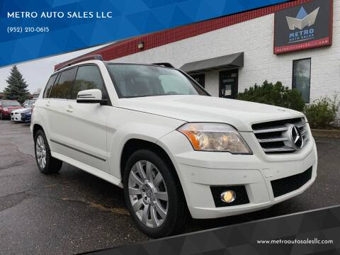 2012 Mercedes-Benz GLK for sale at METRO AUTO SALES LLC in Blaine MN