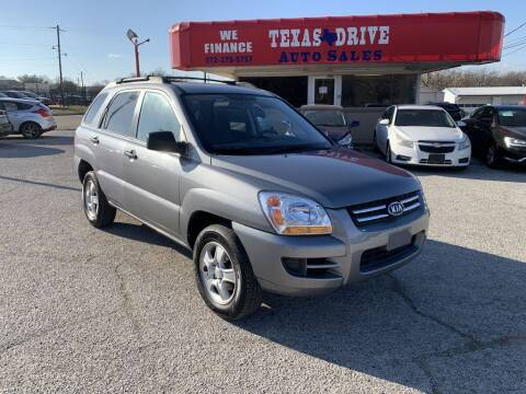 2008 Kia Sportage for sale at Texas Drive LLC in Garland TX