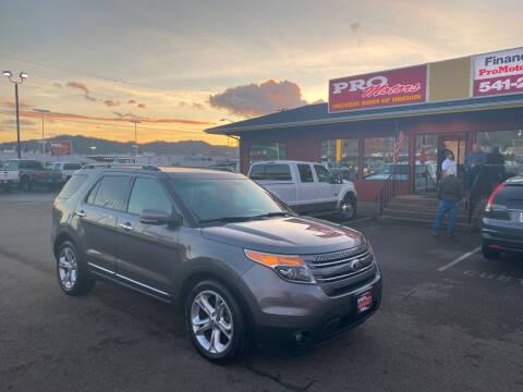 2013 Ford Explorer for sale at Pro Motors in Roseburg OR