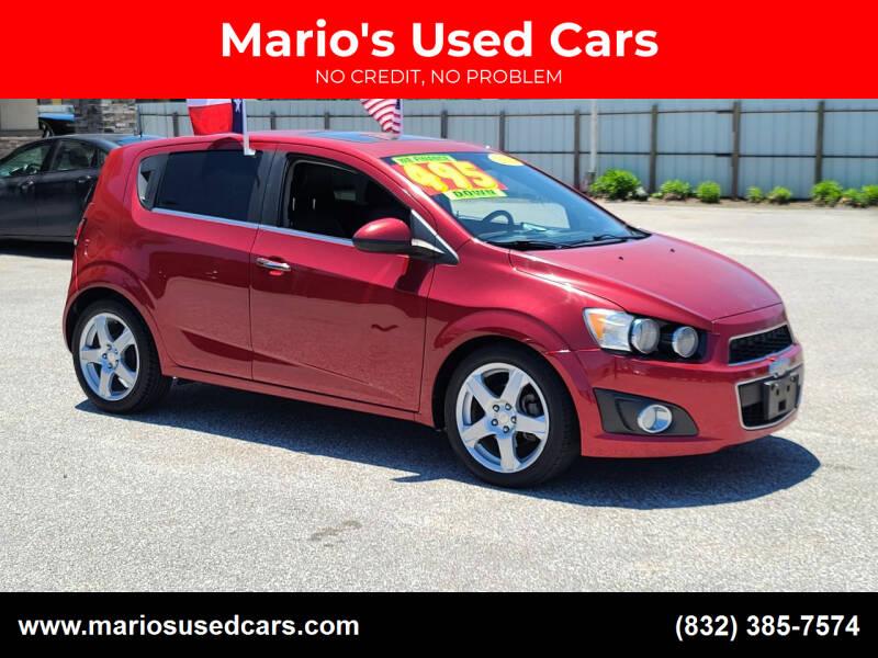 2012 Chevrolet Sonic for sale at Mario's Used Cars - Pasadena Location in Pasadena TX