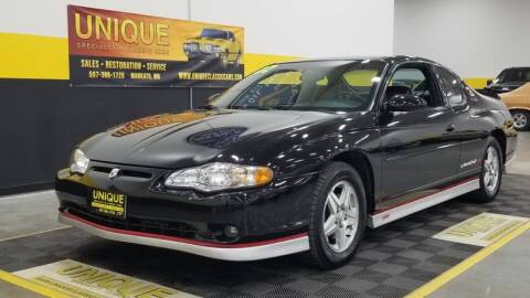 2002 Chevrolet Monte Carlo for sale at UNIQUE SPECIALTY & CLASSICS in Mankato MN