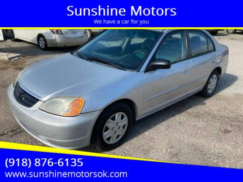 2003 Honda Civic for sale at Sunshine Motors in Bartlesville OK