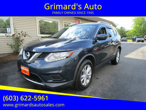 2016 Nissan Rogue for sale at Grimard's Auto in Hooksett NH